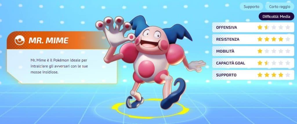Mr Mime Pokemon Unite guida