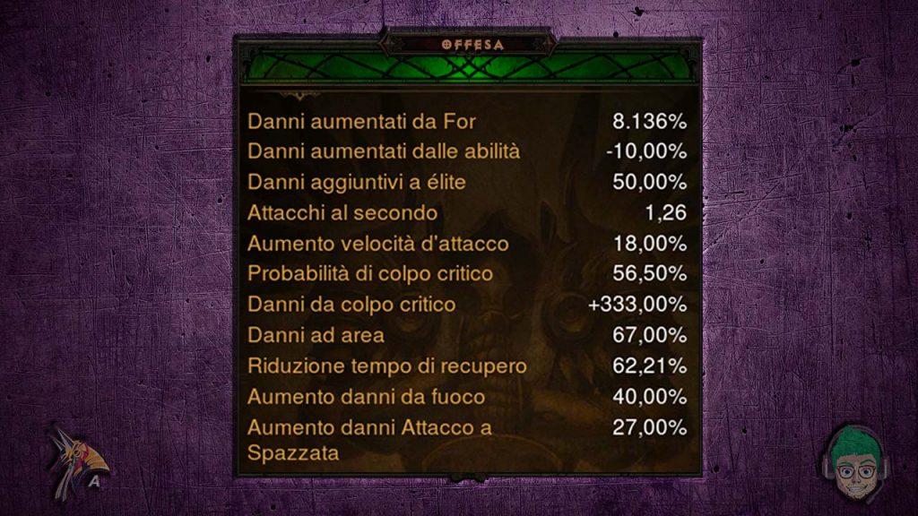 diablo road to 100 crociato set orlando stats