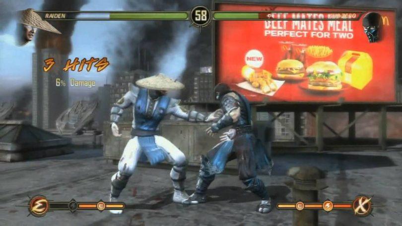 pubblicità nei videogiochi mortal kombat