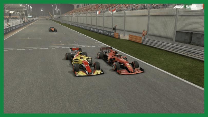 Rimanere in pista in F1 2021 ruota a ruota ferrari