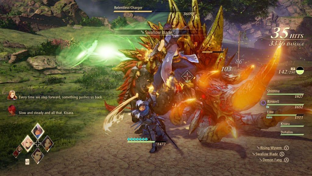 tales of arise demo combattimento