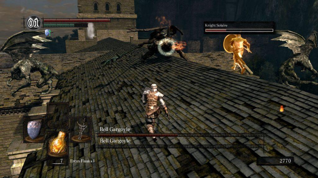 dark souls gargoyle boss fight